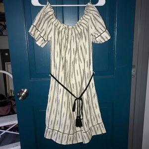 Just Living off the shoulder linen dress size s